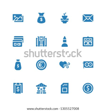 card icon set collection of 16