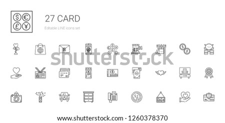 card icons set collection of