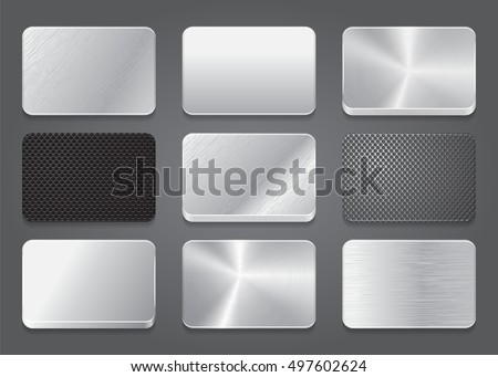 card icons with metal