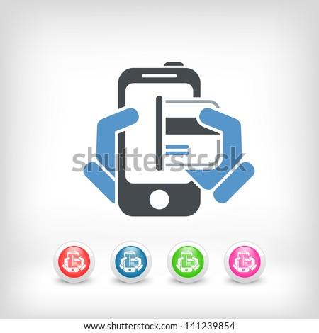 Card in smartphone