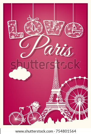 card love paris with the