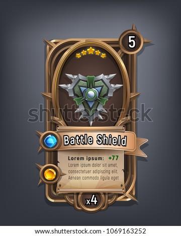 card of fantasy battle shield