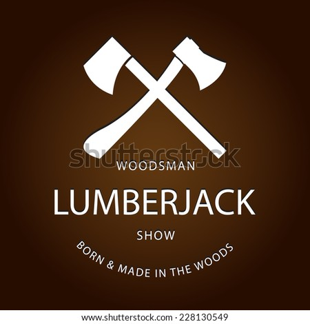 card of vintage lumberjack