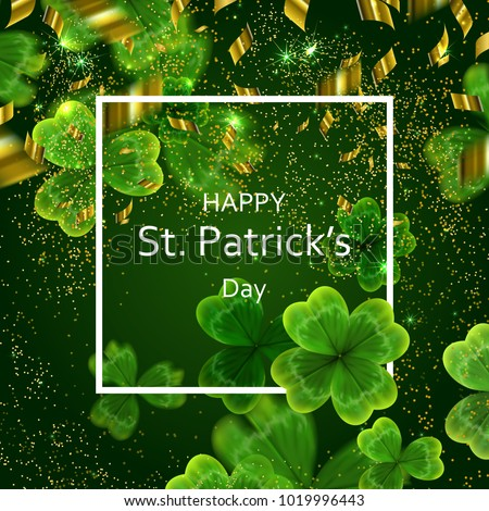 card on st patrick's day 3d