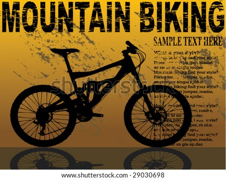 card or flayer for mountain