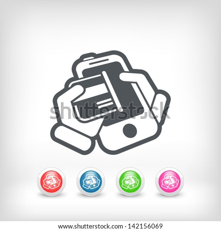 Card phone icon