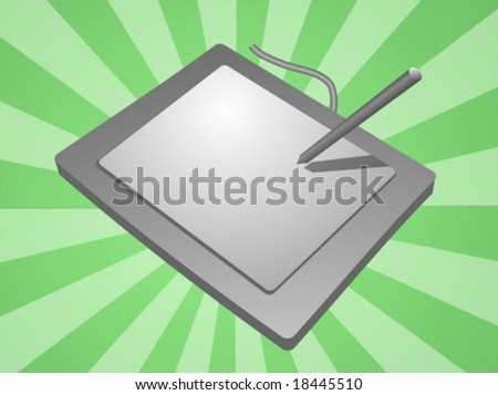 Card reader computer peripheral hardware device illustration