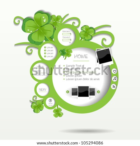 card sale blank shape label speech spring vector symbol circle summer simple modern design banner nature bubble website graphic element connect message pattern business template textures clover