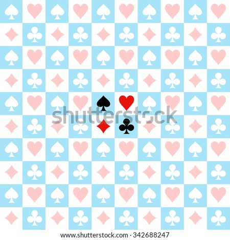 card suit chess board blue
