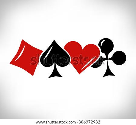 card suit symbols. poker