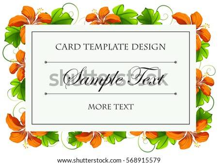 card template with orange