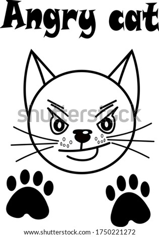 card with a cat from the