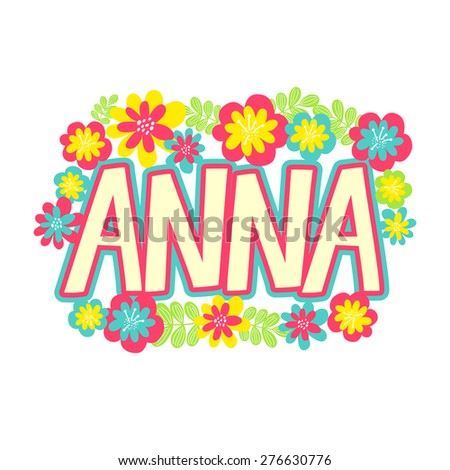 card with beautiful name anna