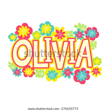 card with beautiful name olivia