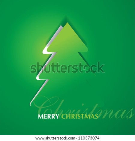 card with Christmas and New Year