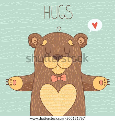 Card with Cute Bear