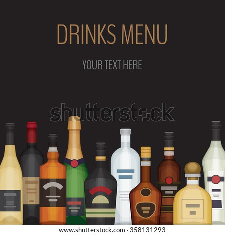 card with different alcohol