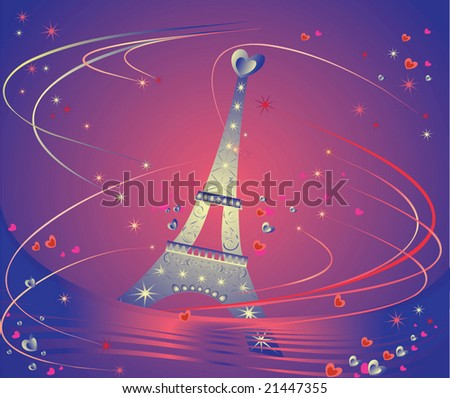 Card with Eiffel Tower. See my gallery for more