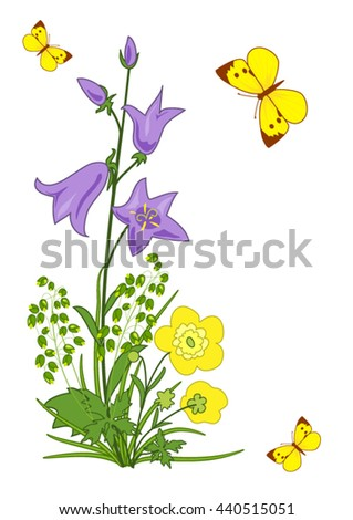card with flowers and