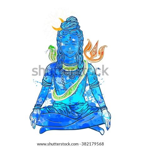 card with god shiva