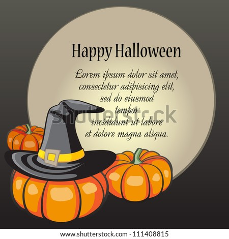 Card with Halloween Background. Grouped for easy editing. Perfect for invitations or announcements.