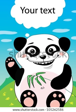 Card with happy panda