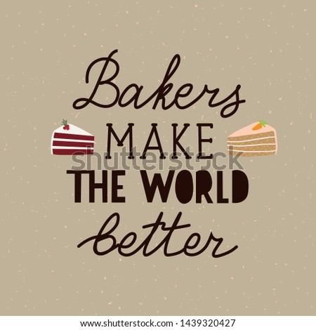 card with lettering  bakers