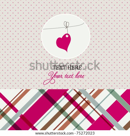 Card with pink heart