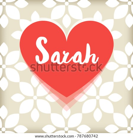 card with red heart saint