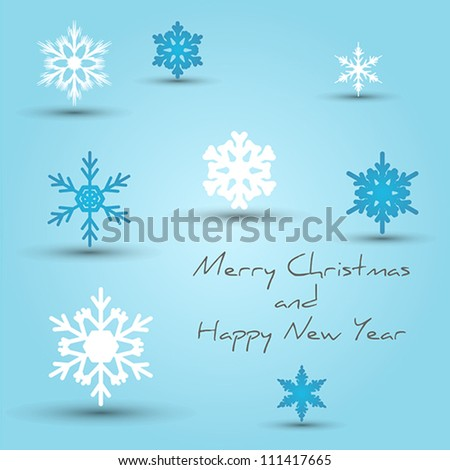 card with snowflakes. card with snowflakes concept.