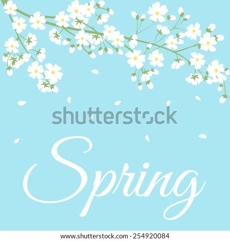 card with spring flowers on