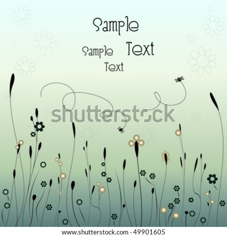 Card with spring theme - stock vector