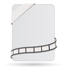 card with tag and film strip