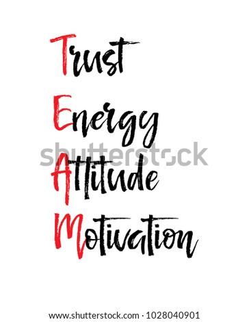 card with team trust energy