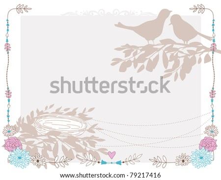 Card with the birds and nest.