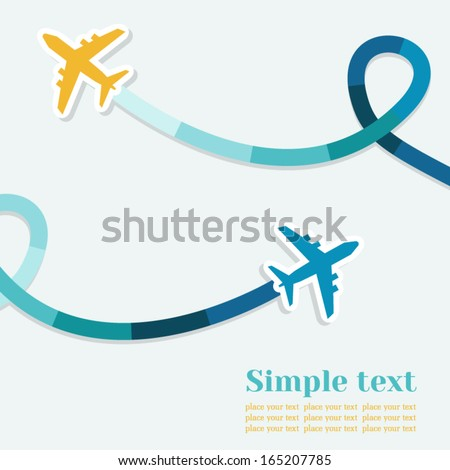 card with two planes and