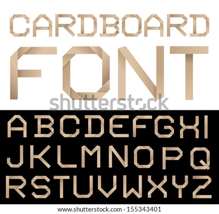Cardboard alphabet vector illustration