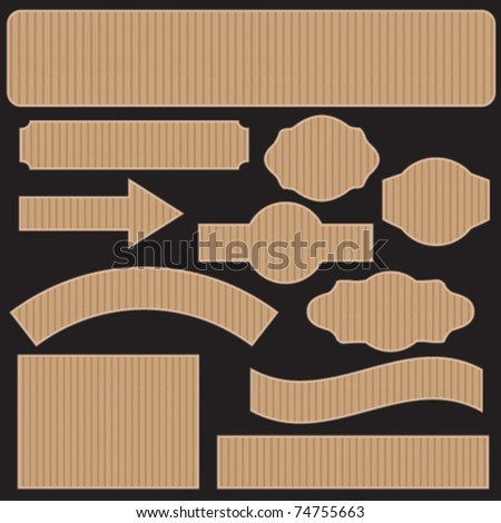Cardboard banners and labels