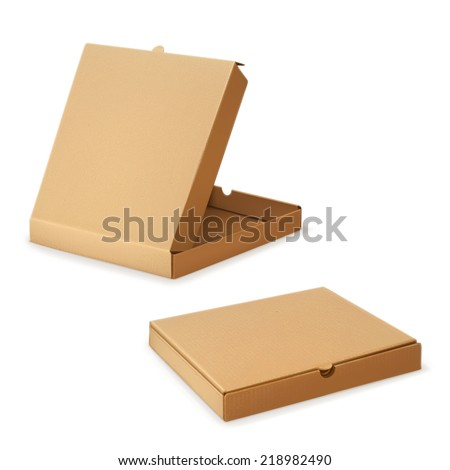 cardboard box for pizza  vector
