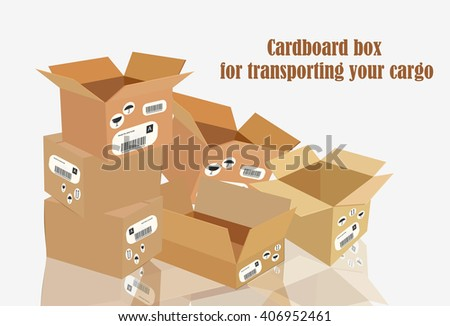 Cardboard box for transporting your cargo