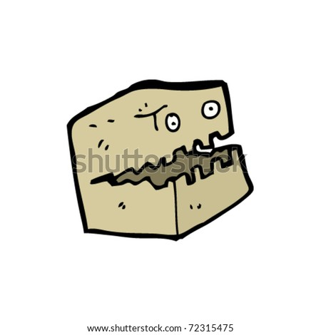 cardboard box monster cartoon