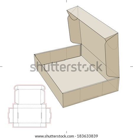 royalty free book shipper package with die cut 505536520 stock