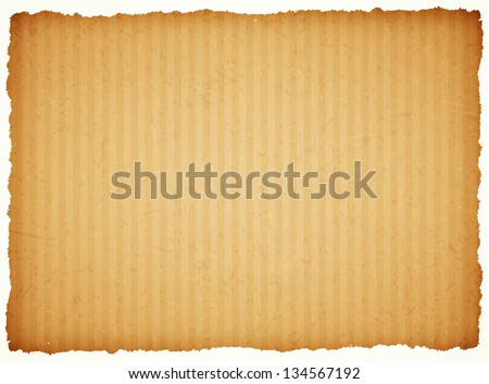 cardboard paper frame with torn edges