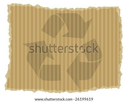 Cardboard recycle symbol