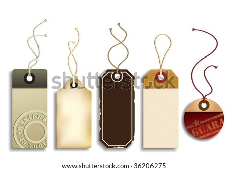 Cardboard Sales Tags - stock vector