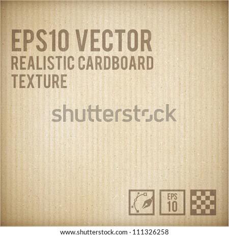 Cardboard texture - stock vector