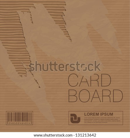Cardboard vector texture