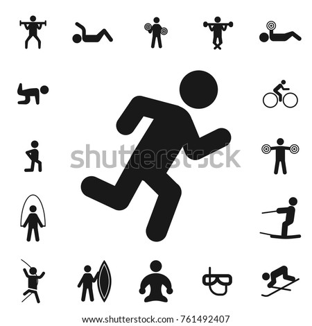 cardio. fitness collection, kinds of sports. Simple icon set on white background. - Shutterstock ID 761492407