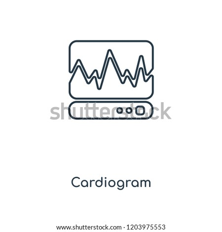 Cardiogram concept line icon. Linear Cardiogram concept outline symbol design. This simple element illustration can be used for web and mobile UI/UX.