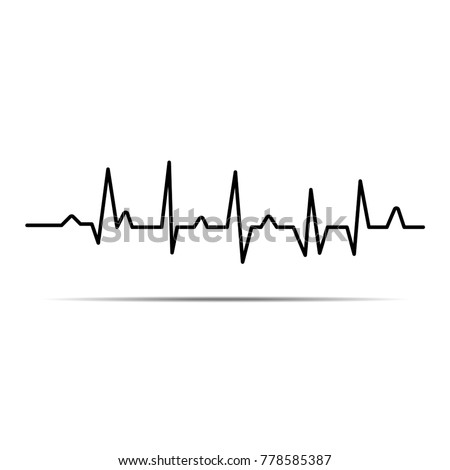 Cardiogram. Heartbeat. The icon. Romance. Abstract background.